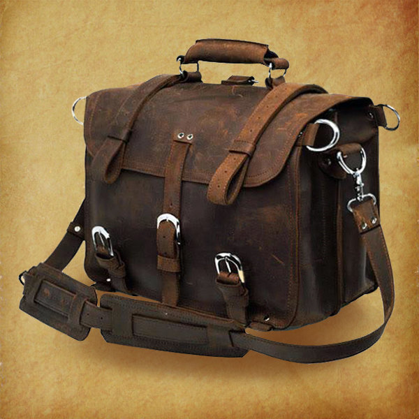 High Quality Genuine Crazy Horse Leather Bag/Rugged Leather ...