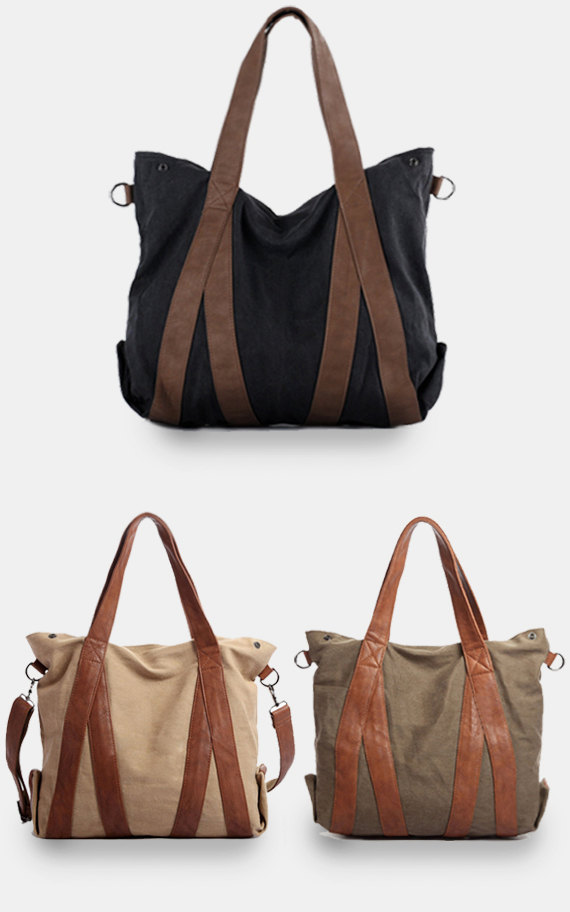 Large Canvas Tote Bags / Women Bag / Briefcase / Laptop / Women's ...