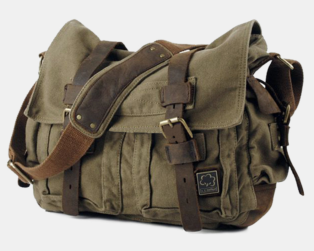 Large Canvas Bag / Crossbody Bag / Briefcase / Messenger / Laptop ...