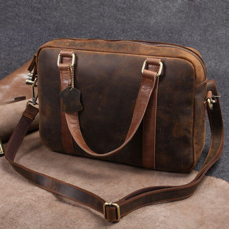 coach handbag outlet online 2jky  mens leather briefcase messenger bag