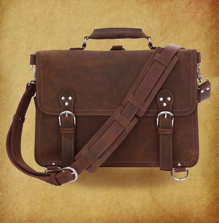 High Quality Genuine Leather Bag / Rugged Leather Briefcase ...