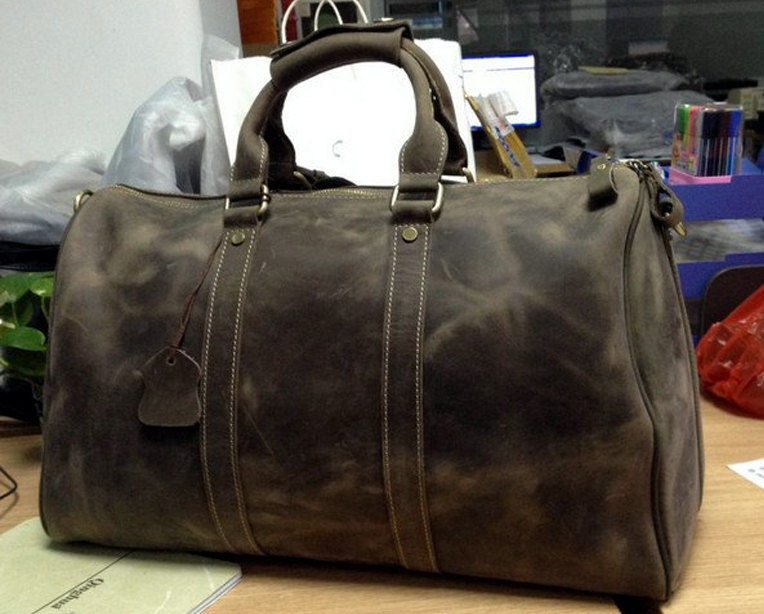 Large Travel Bag / Genuine Leather Briefcase / Men Leather Bag ...